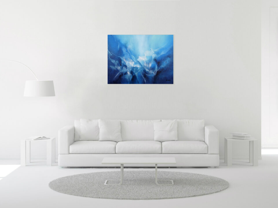 Abstract Underwater Painting - Kaia