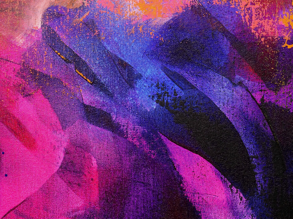 Colorful Abstract Painting - Against All Odds
