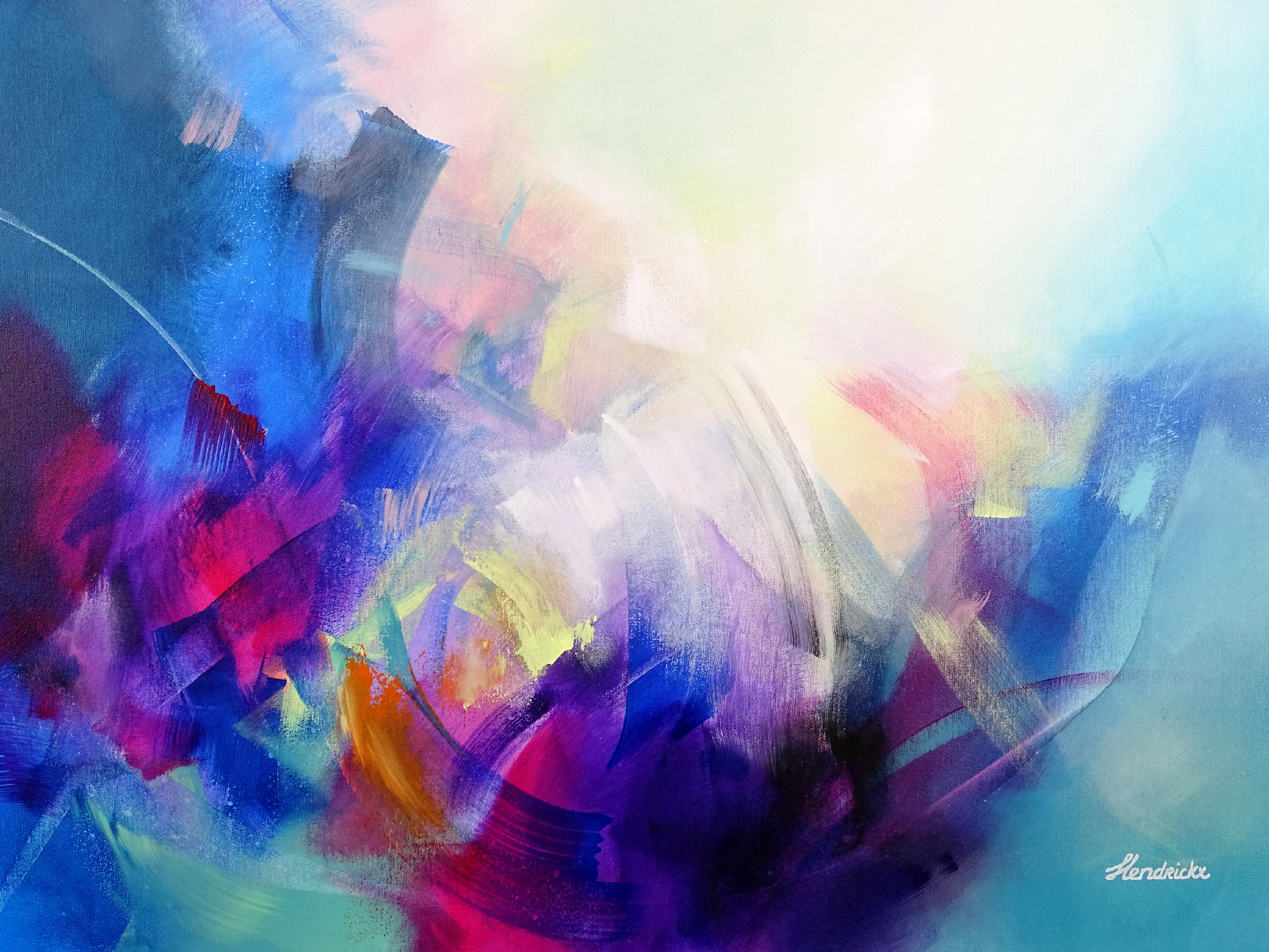 Colorful Abstract Painting - Down the Rabbit Hole