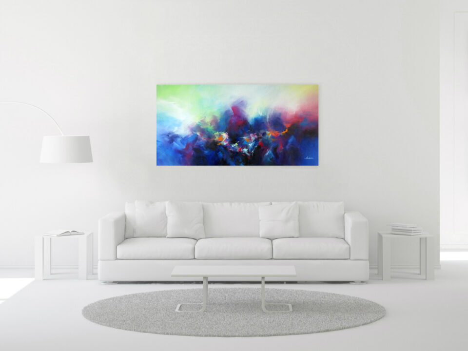 Colorful Contemporary Panorama Painting Interior - Let's Play a Game
