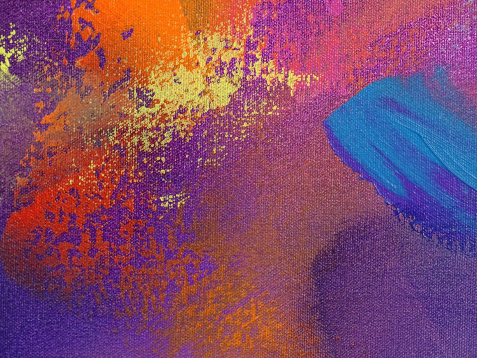 Colorful Modern Painting - About Last Night