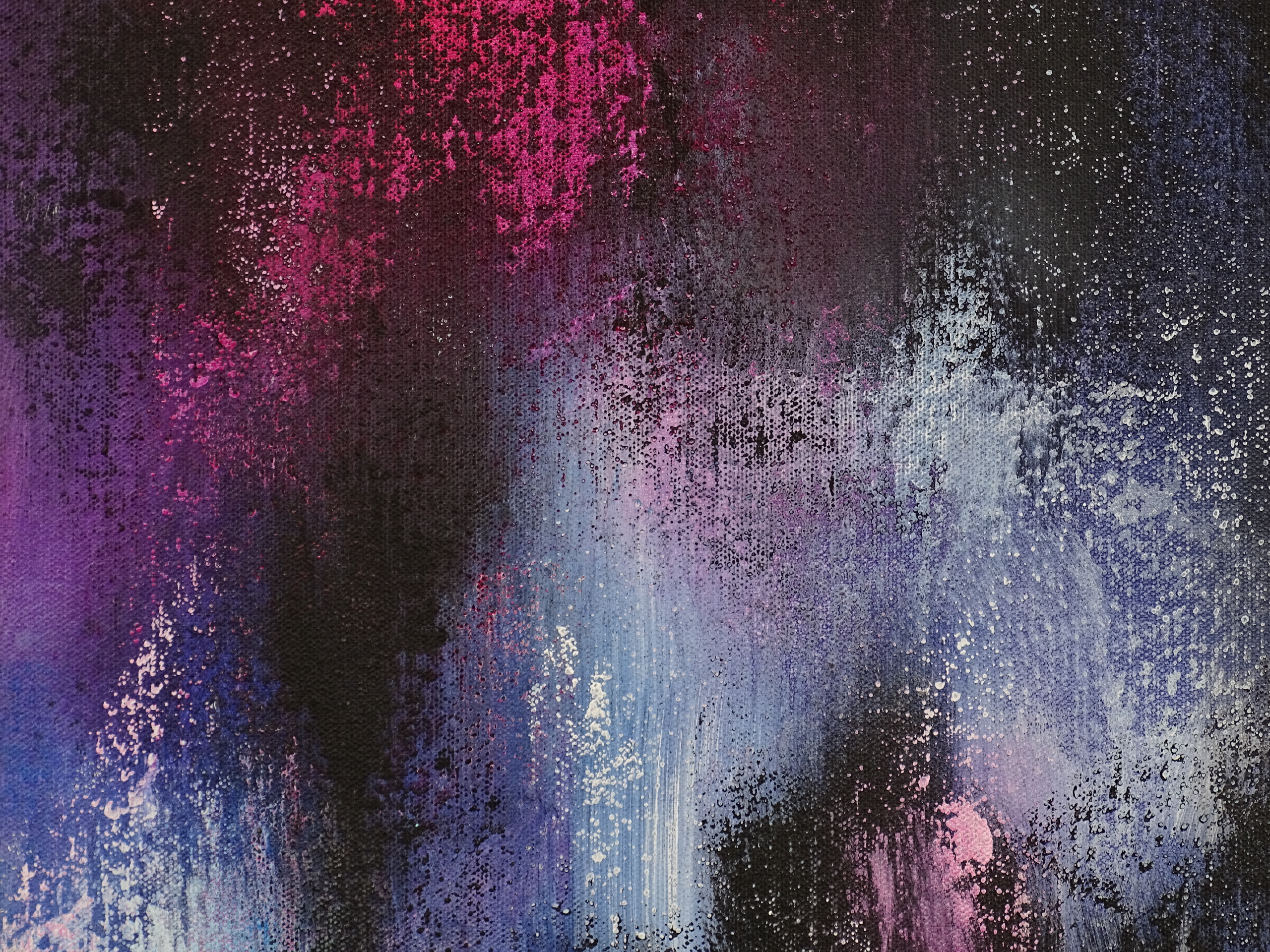 Dark Abstract Painting - Gone But Not Forgotten