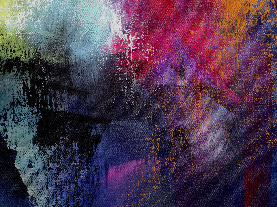 Dark Abstract Painting - Lifestyles of the Rich and Famous