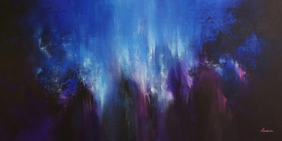 Dark Abstract Panorama Painting - Suspended Animation