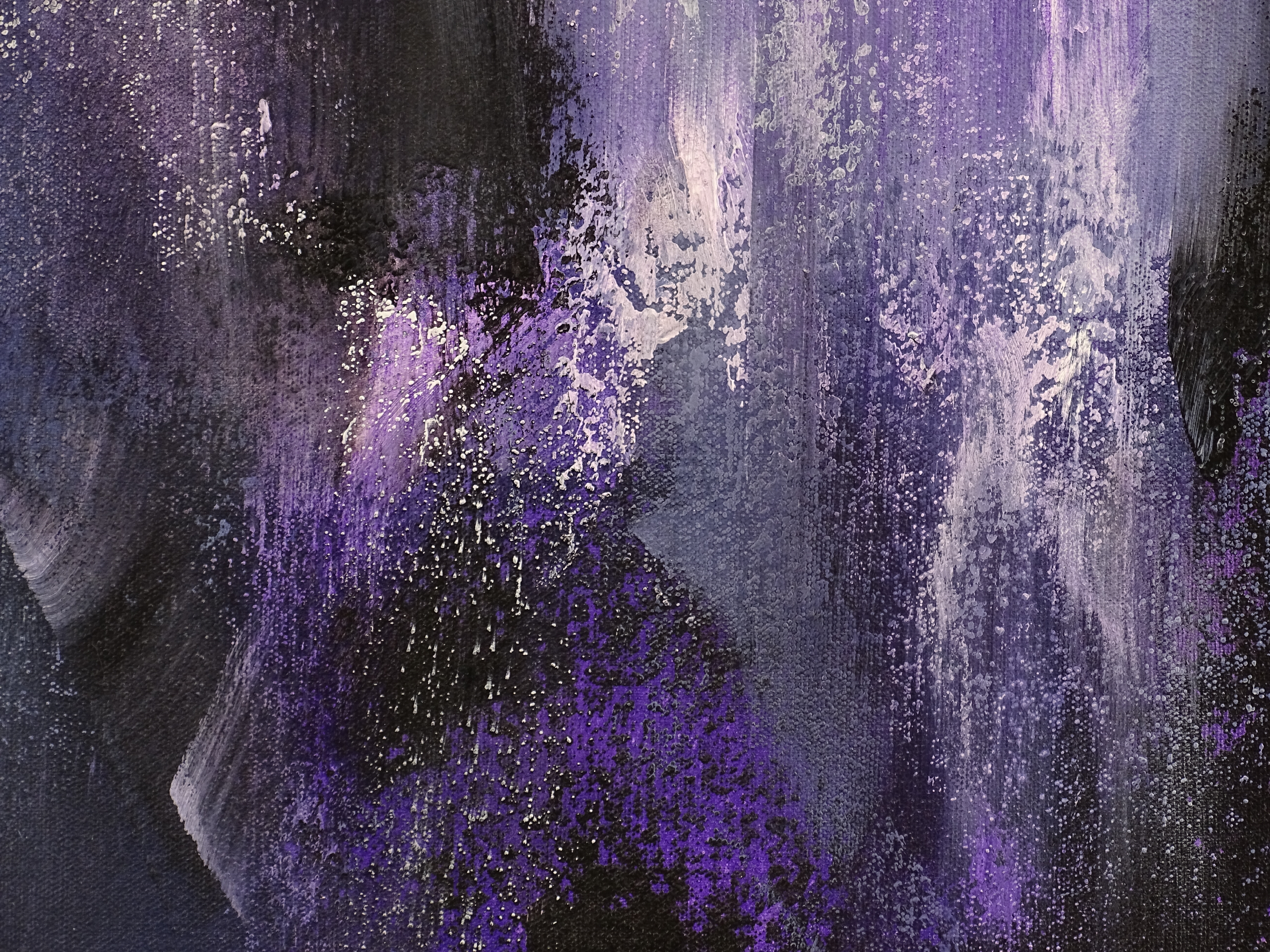 Dark Mysterious Abstract Painting - Voodoo