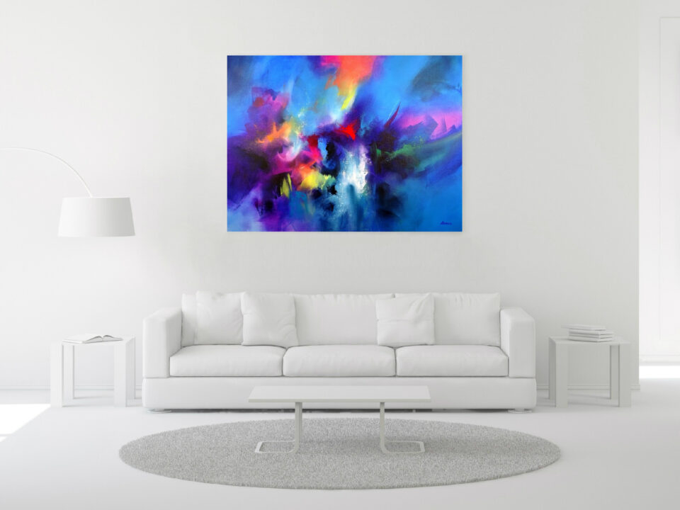 Large Abstract Painting - Face Your Fears
