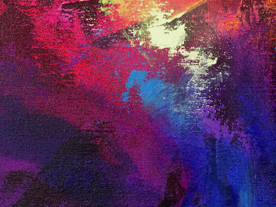 Large Abstract Painting - Welcome to the Thunderdome