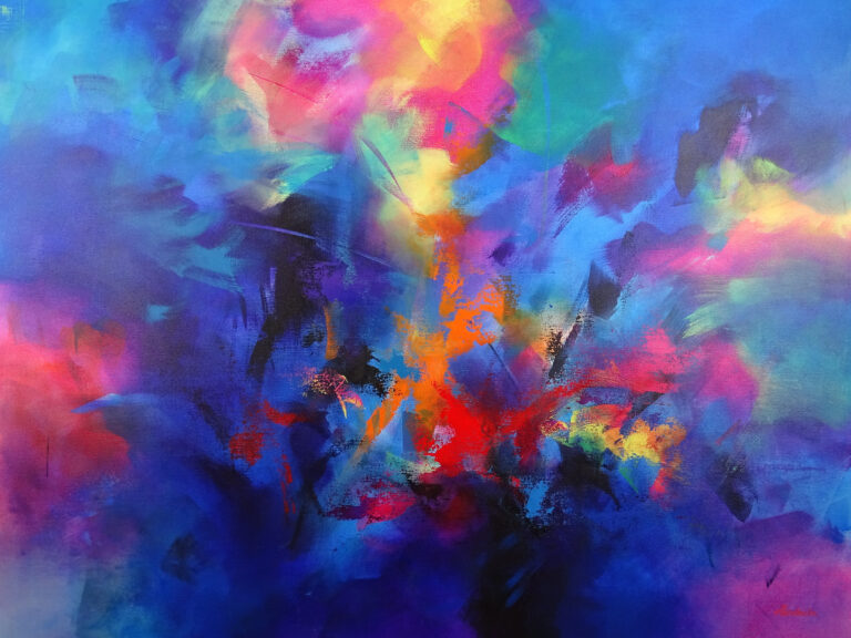 Large Contemporary Painting - Rhapsody
