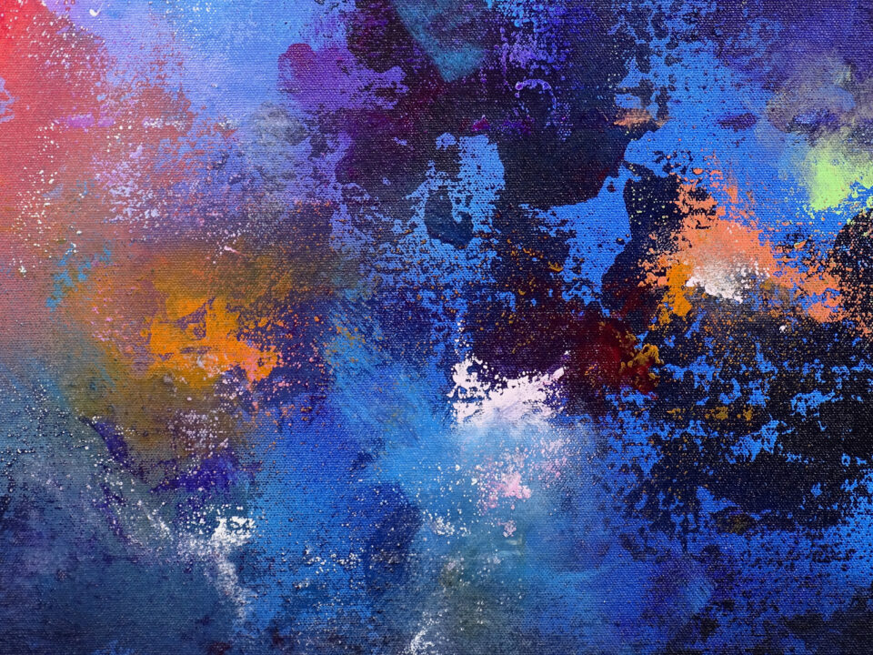Large Modern Painting - Synchronicity