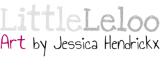 LittleLeloo Art by Jessica Hendrickx Logo 500
