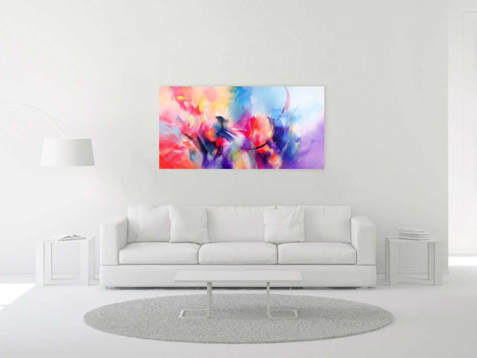 Modern Panorama Sunset Painting - Is It Summer Yet