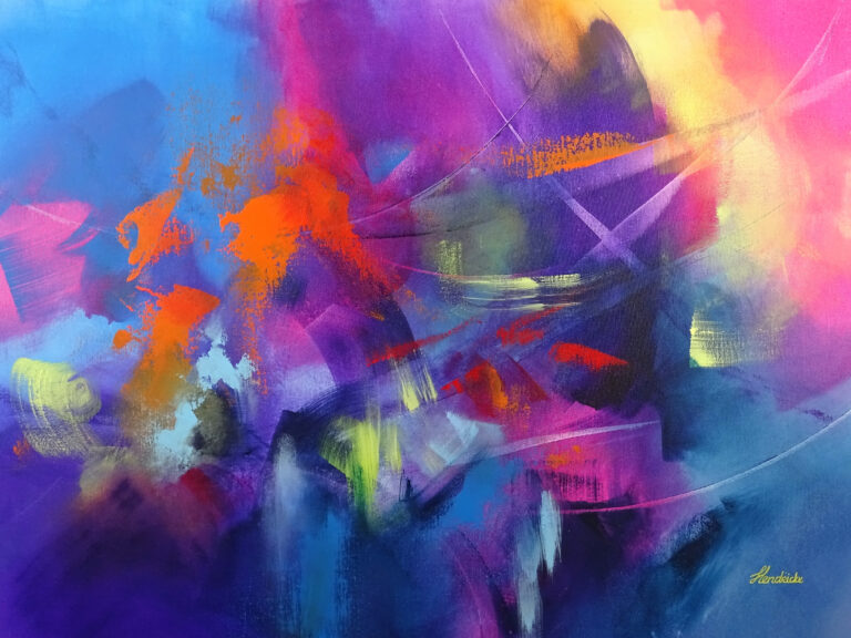 Playful Abstract Painting - Chasing Dreams