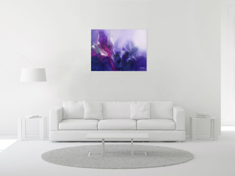 Purple Abstract Painting - Divine intervention